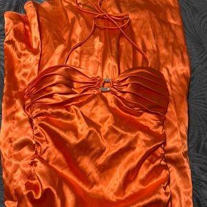 Formal dress orange size 1